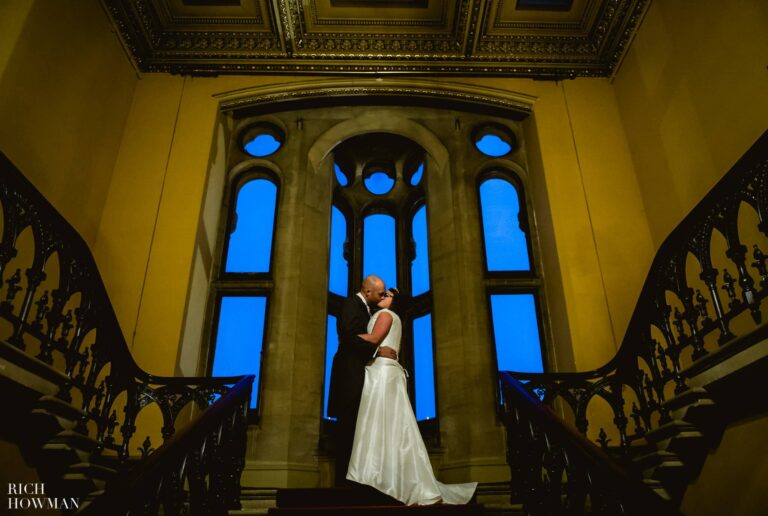 Grittleton House Wedding in the snow