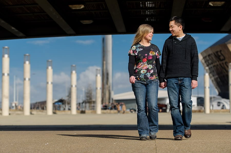 Engagement Photography in Cardiff Bay 7