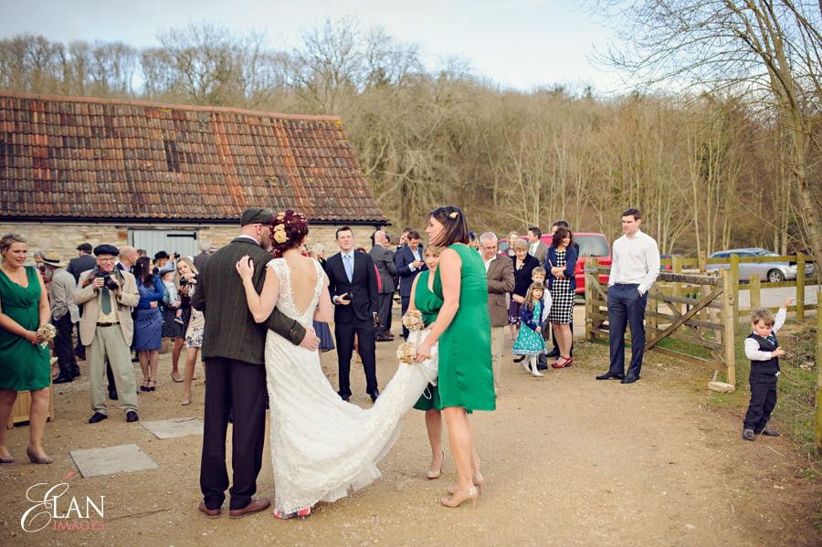 Vintage wedding at the Folly Farm Centre, Pensford 184