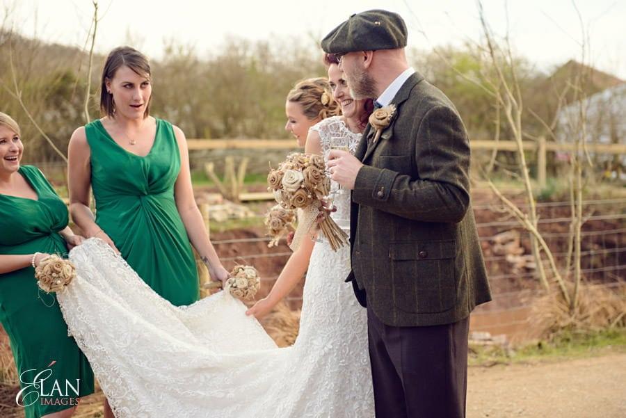 Vintage wedding at the Folly Farm Centre, Pensford 185