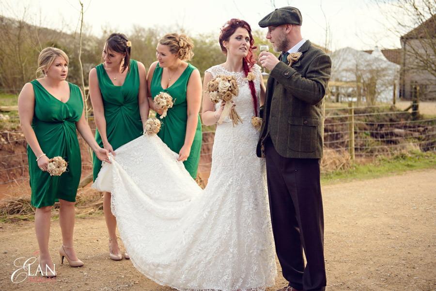 Vintage wedding at the Folly Farm Centre, Pensford 186