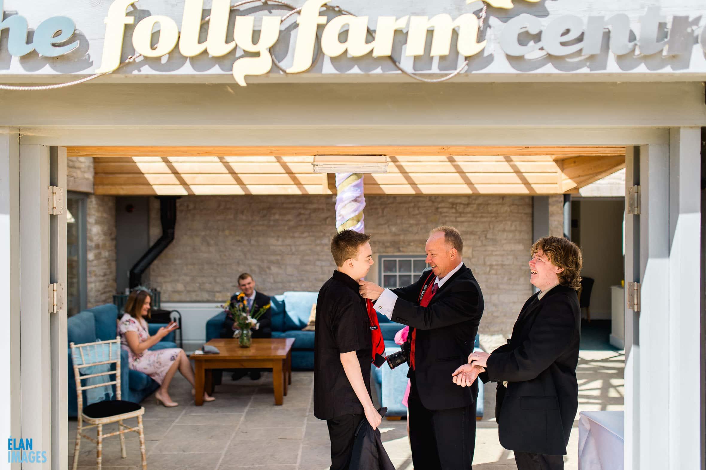Summer Wedding at the Folly Farm Centre, Pensford 13