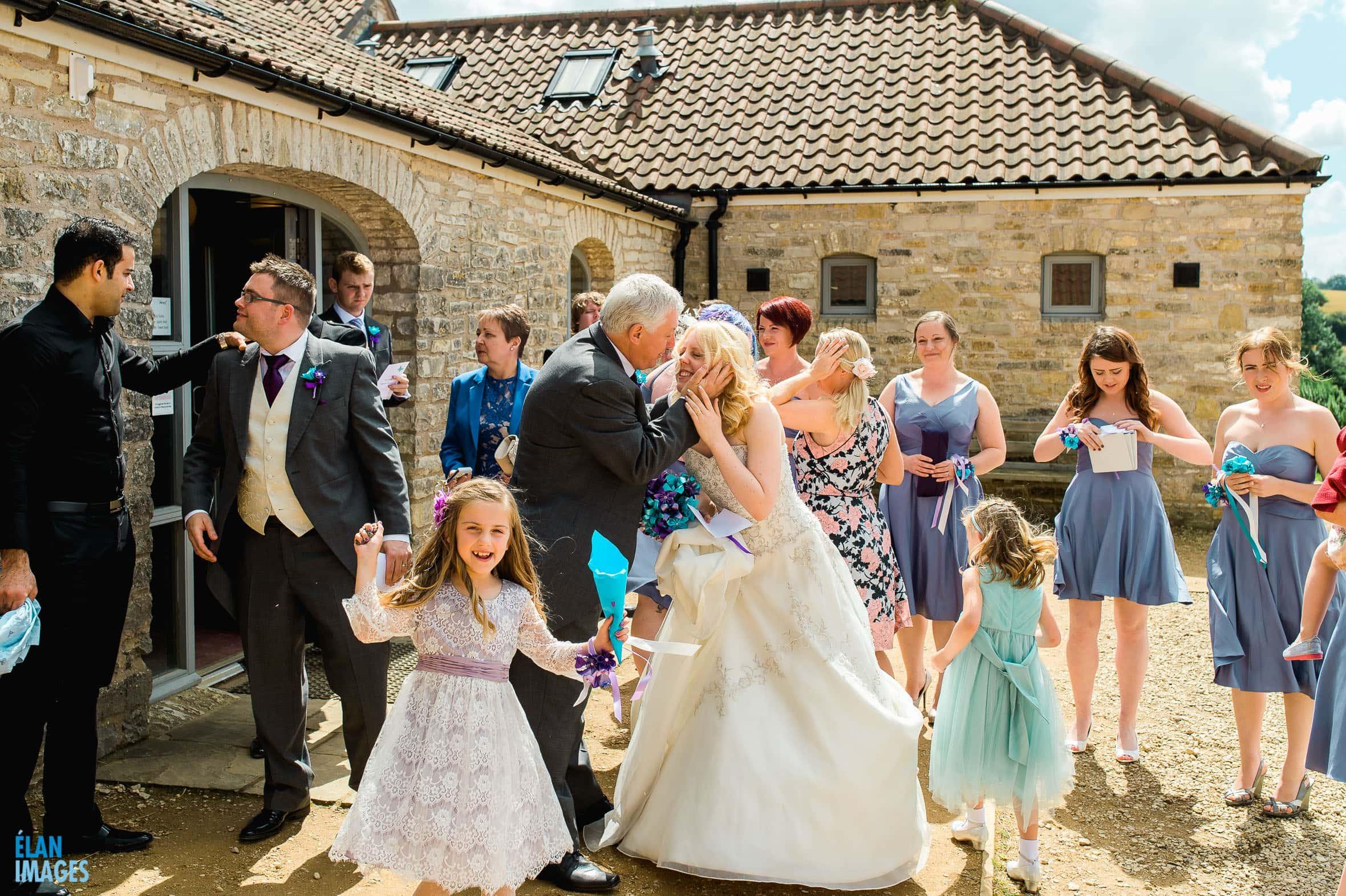 Summer Wedding at the Folly Farm Centre, Pensford 35