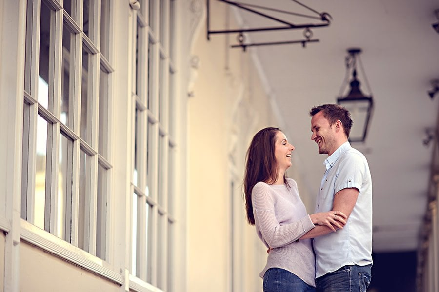 Evening Engagement Photo Shoot in the City of Bath 1