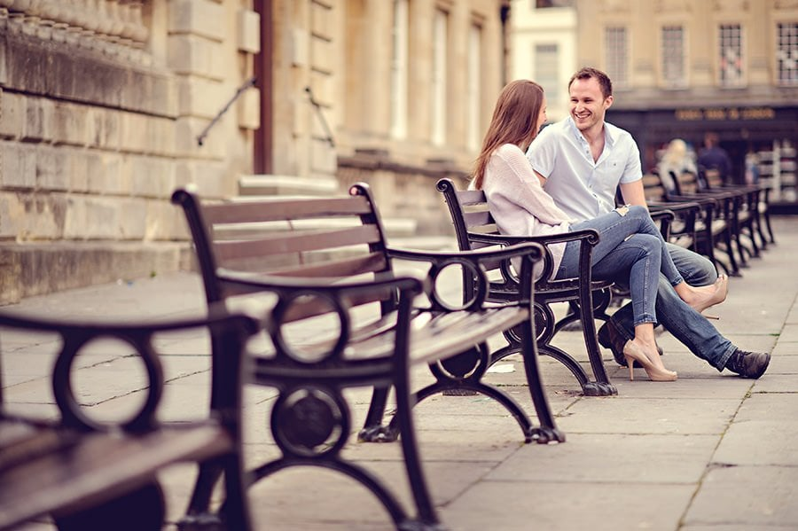 Evening Engagement Photo Shoot in the City of Bath 17