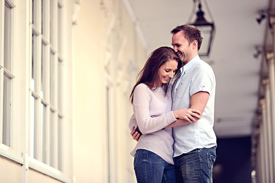 Evening Engagement Photo Shoot in the City of Bath 2