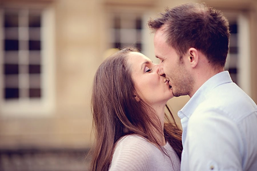 Evening Engagement Photo Shoot in the City of Bath 28