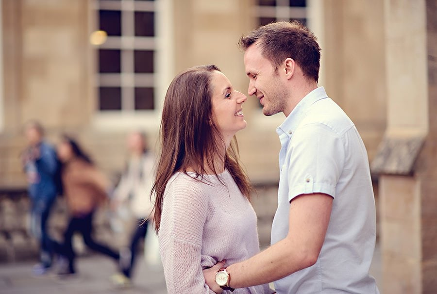 Evening Engagement Photo Shoot in the City of Bath 29