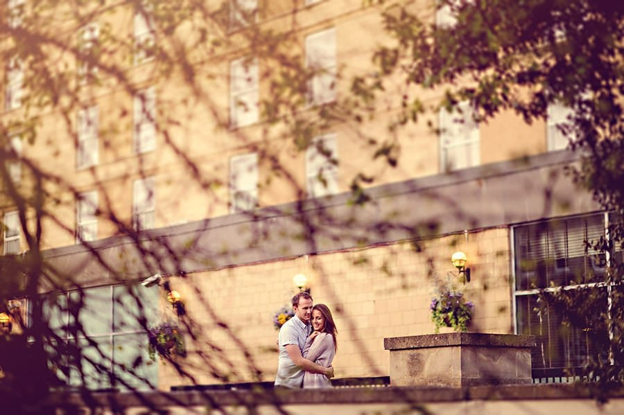 Evening Engagement Photo Shoot in the City of Bath 30