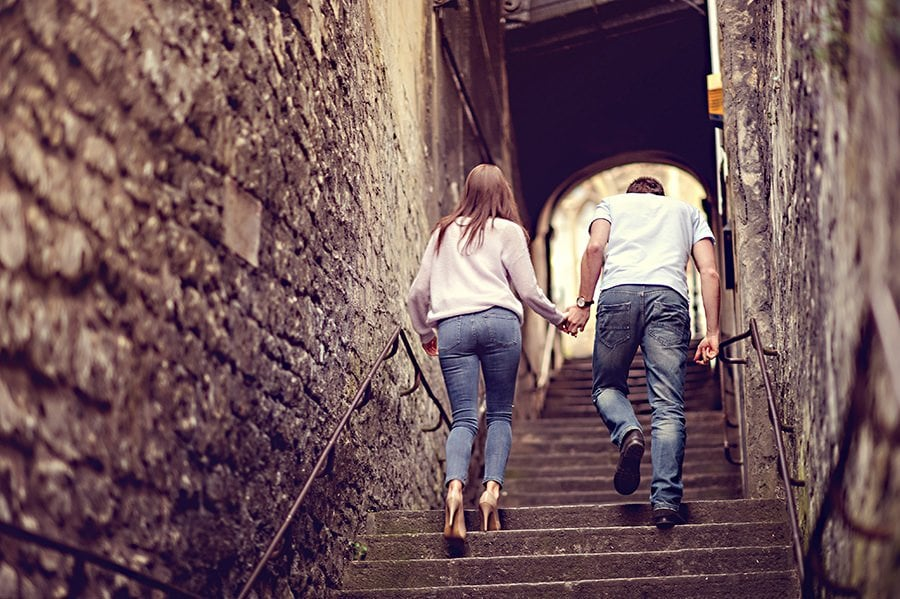 Evening Engagement Photo Shoot in the City of Bath 32