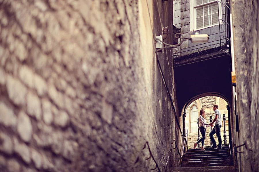 Evening Engagement Photo Shoot in the City of Bath 33