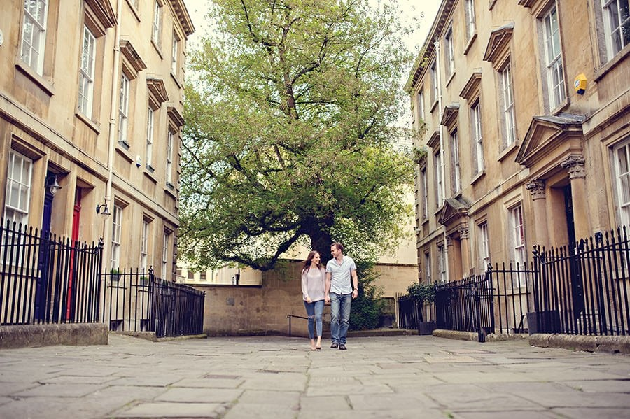 Evening Engagement Photo Shoot in the City of Bath 42