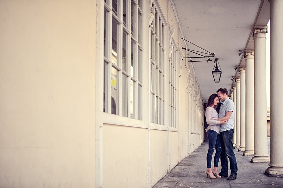Evening Engagement Photo Shoot in the City of Bath 4