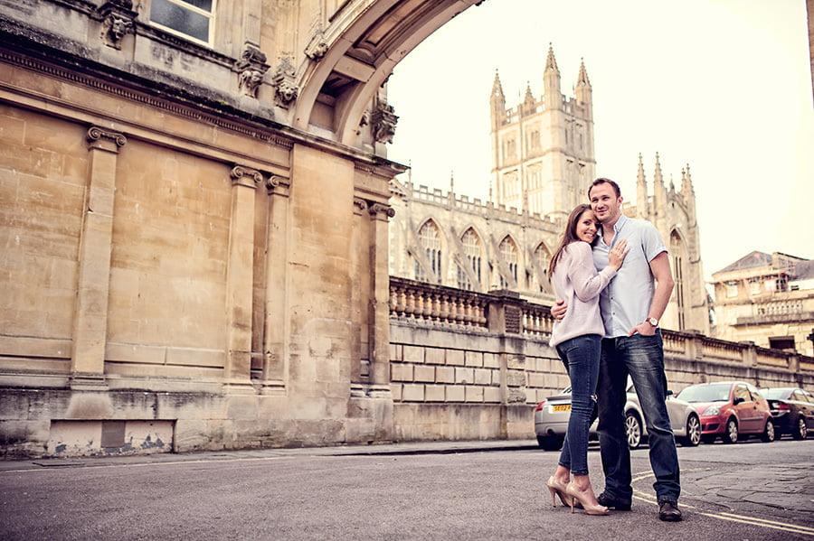 Evening Engagement Photo Shoot in the City of Bath 46