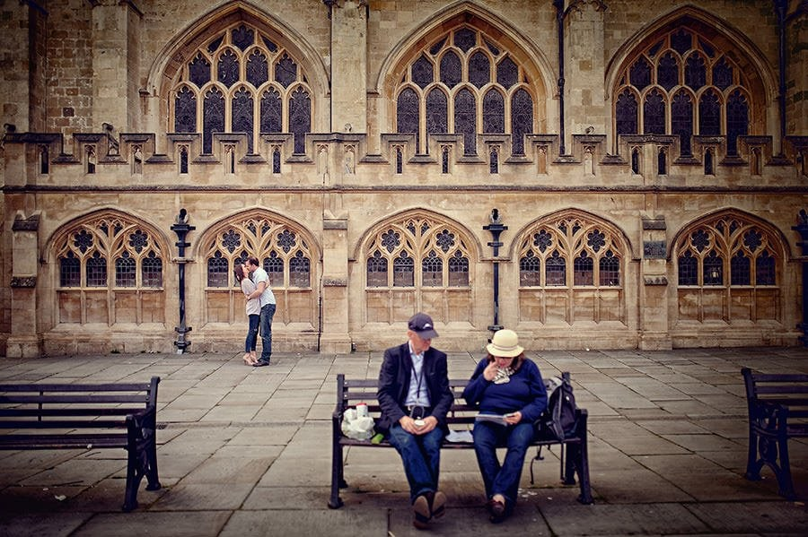 Evening Engagement Photo Shoot in the City of Bath 50