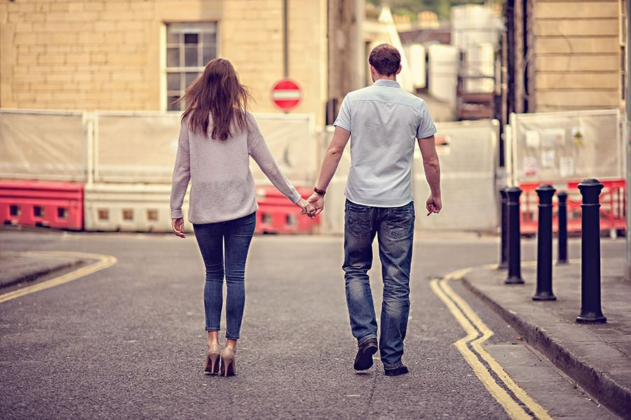 Evening Engagement Photo Shoot in the City of Bath 6
