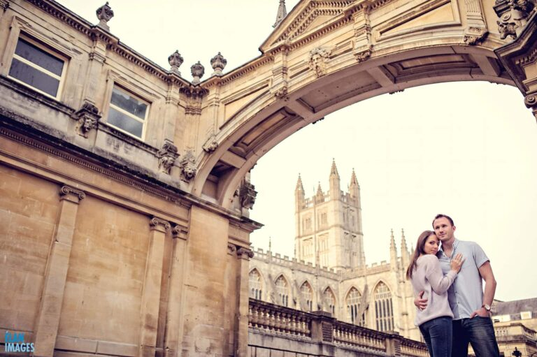 Evening Engagement Photo Shoot in the City of Bath