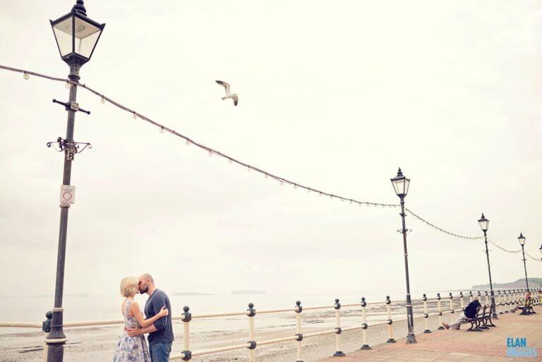 Penarth Pier Cardiff Engagement Photo Shoot