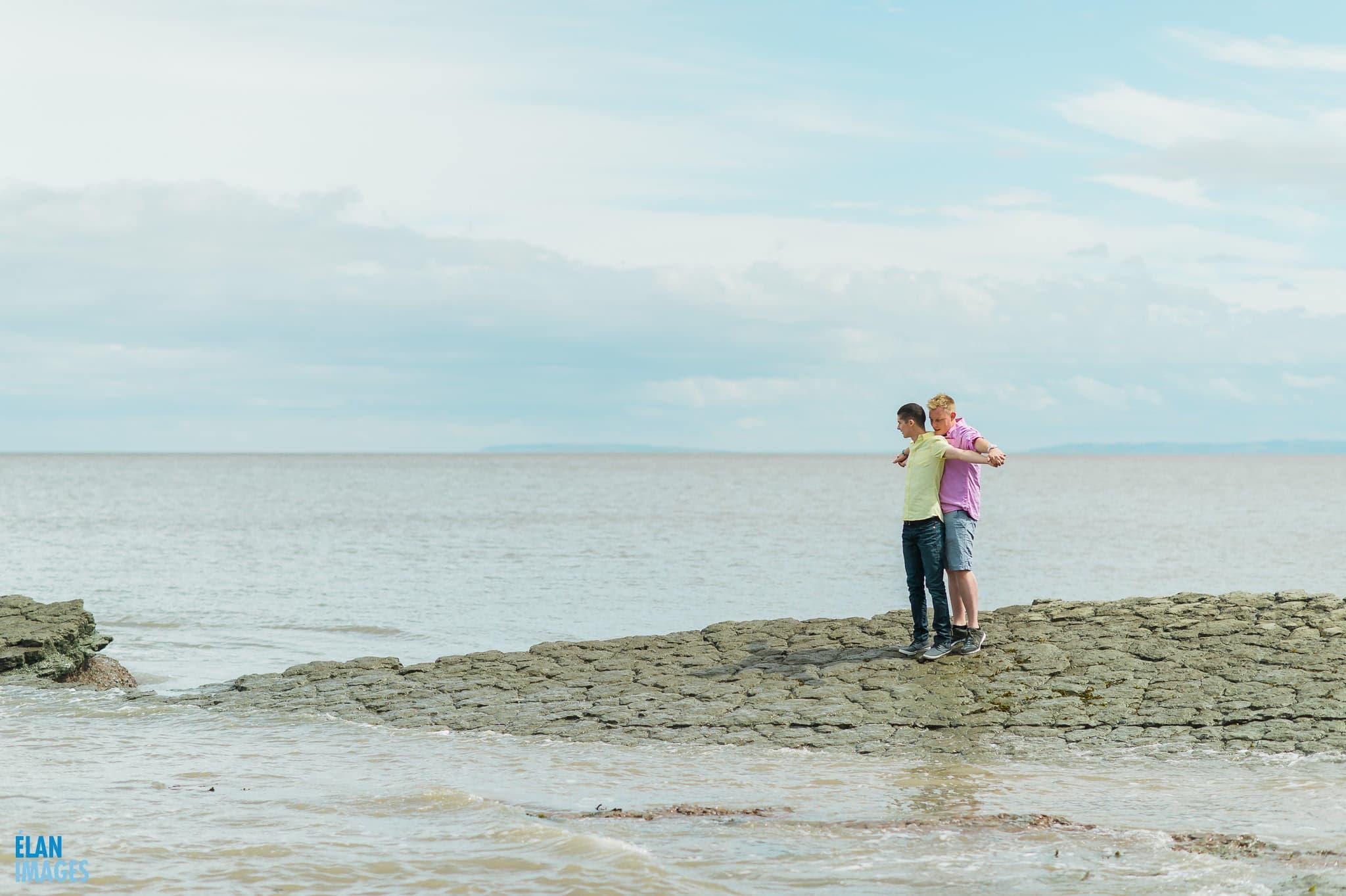 Engagement photo shoot at St Audrie's Bay, Devon 2