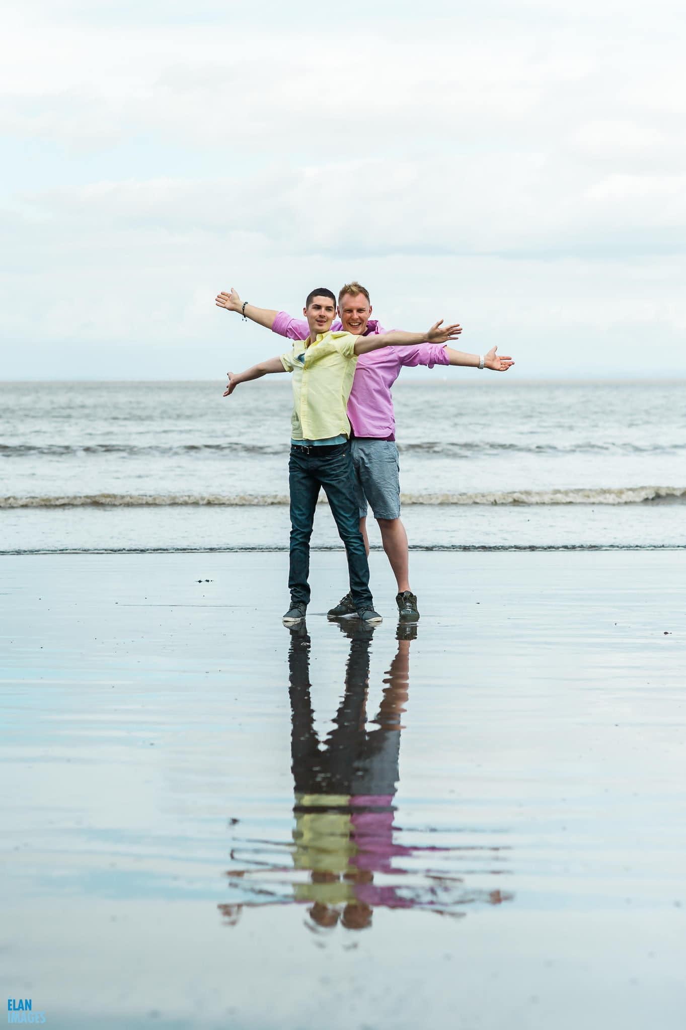 Engagement photo shoot at St Audrie's Bay, Devon 15