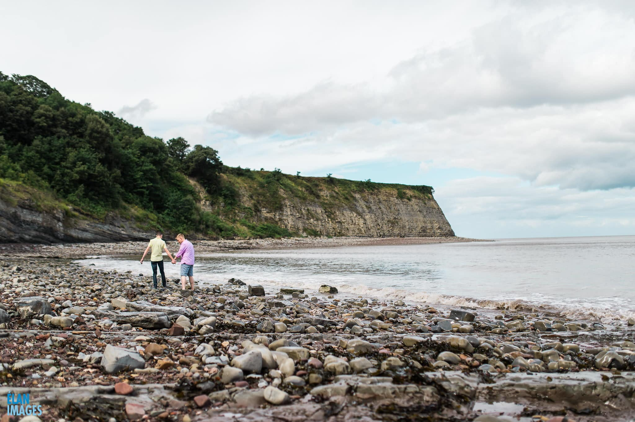 Engagement photo shoot at St Audrie's Bay, Devon 17