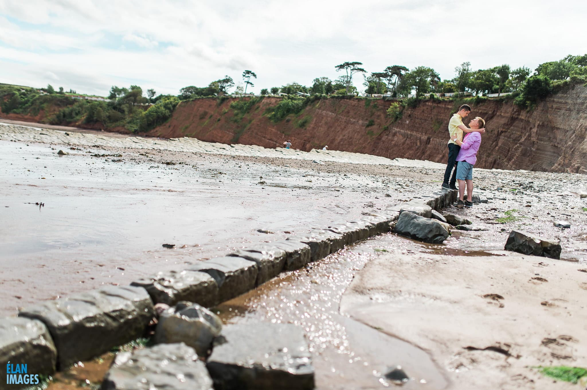 Engagement photo shoot at St Audrie's Bay, Devon 20