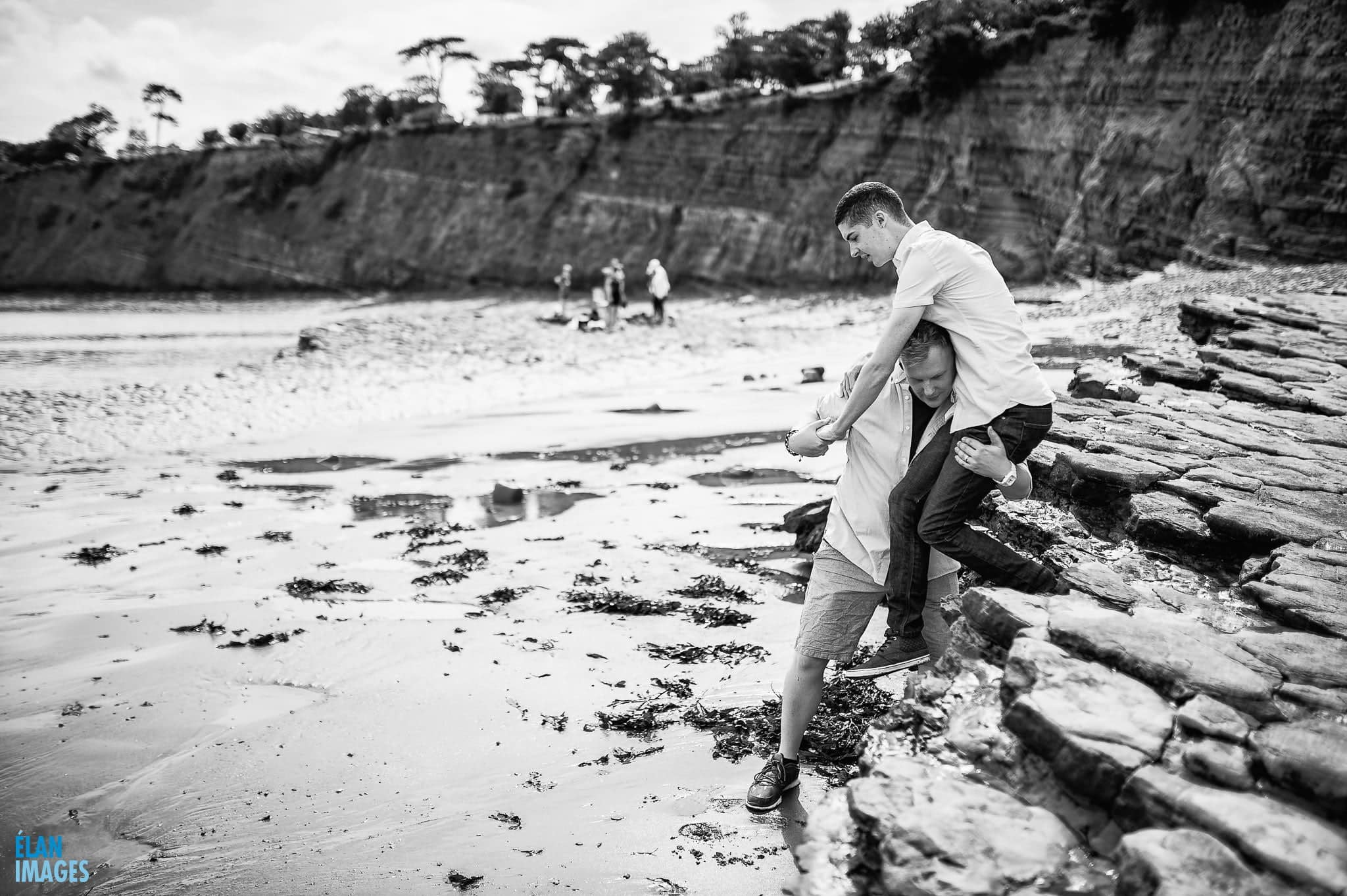Engagement photo shoot at St Audrie's Bay, Devon 21