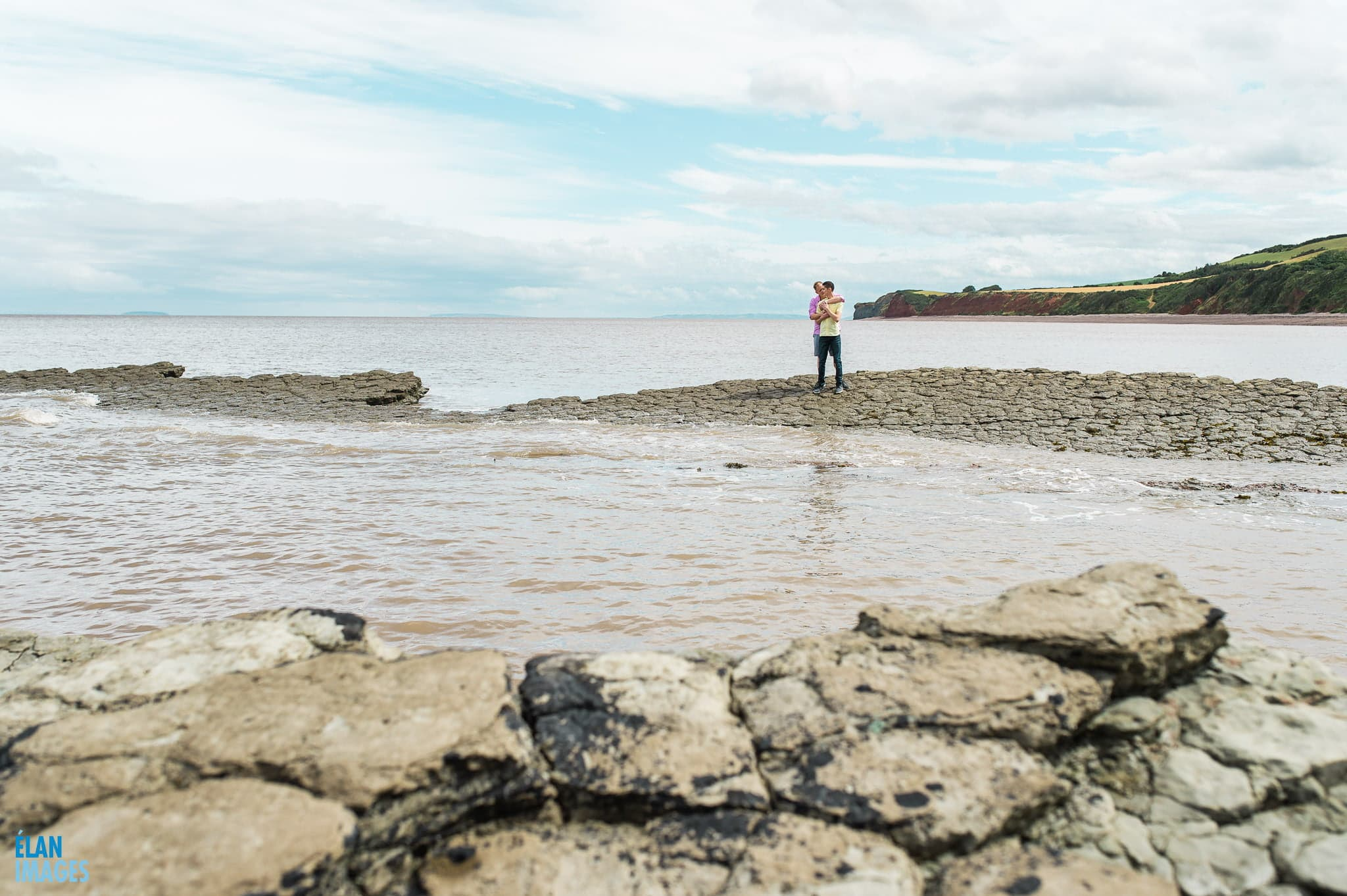 Engagement photo shoot at St Audrie's Bay, Devon 23
