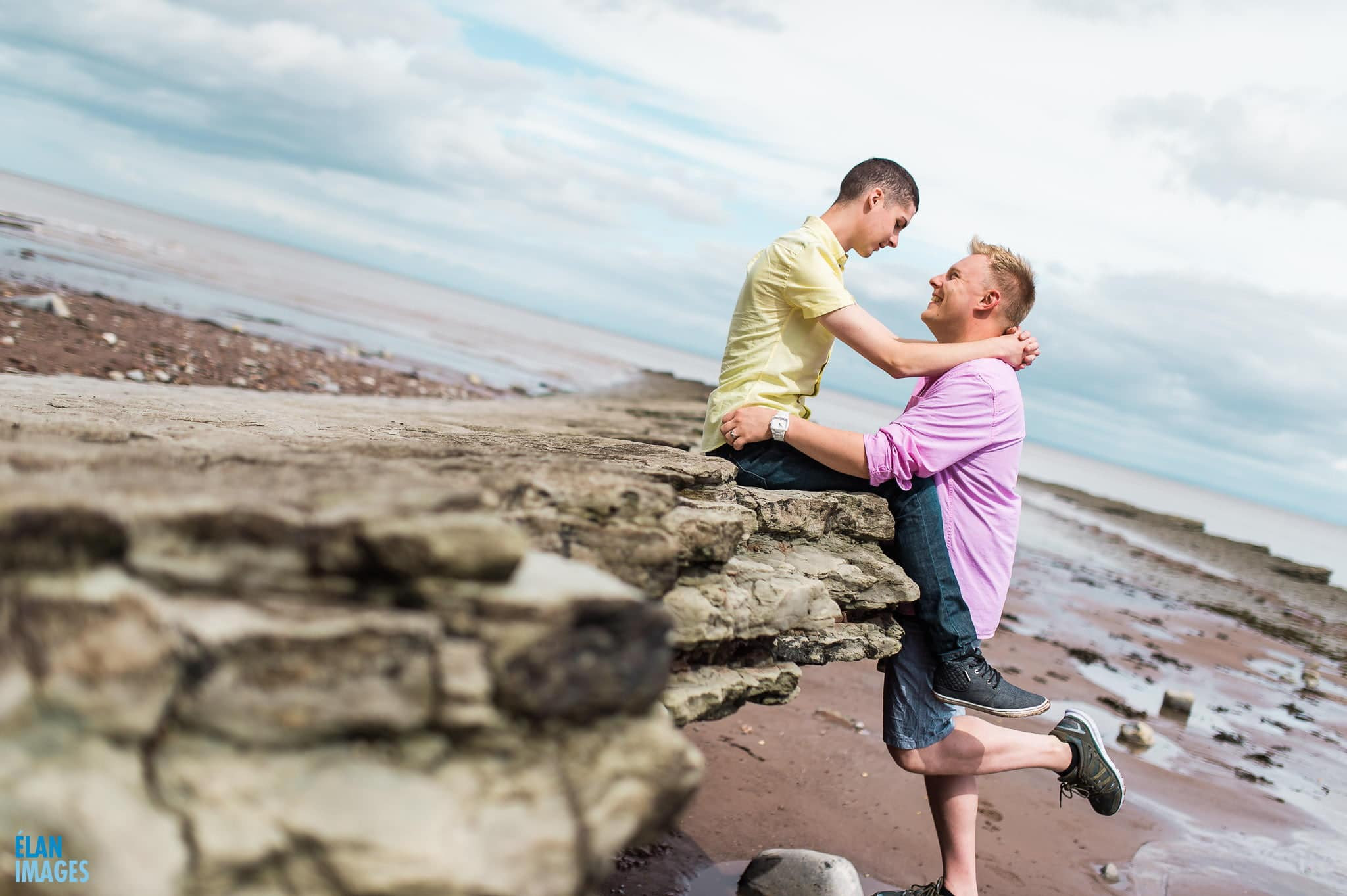 Engagement photo shoot at St Audrie's Bay, Devon 28