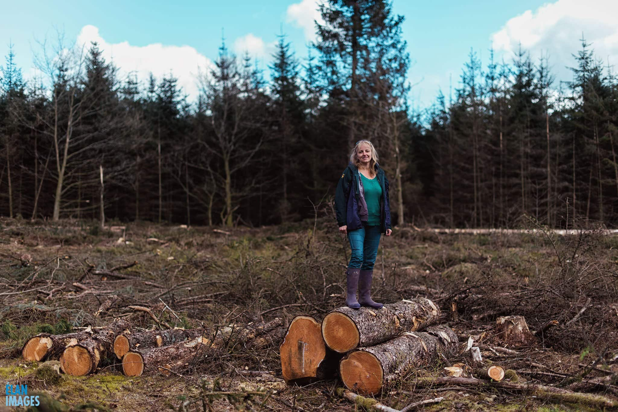 woodland film photo shoot with Nikon F2 camera
