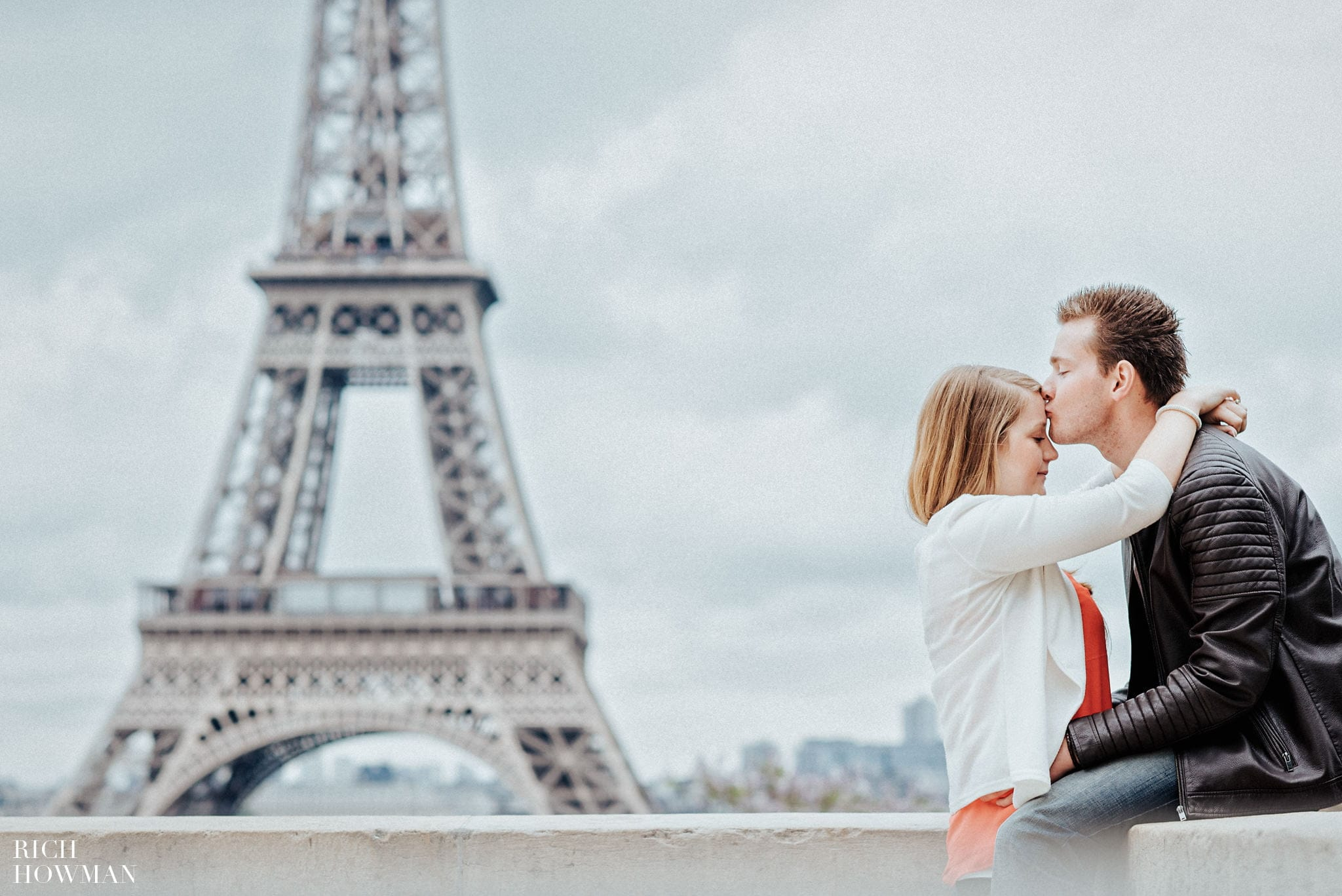 Engagement Photography at the Eiffel Tower in Paris , France