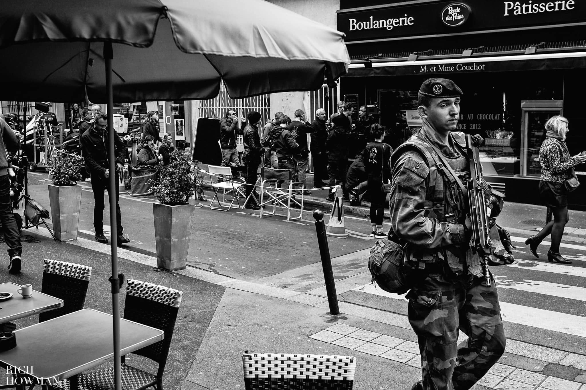 French Soldiers in Monmartre