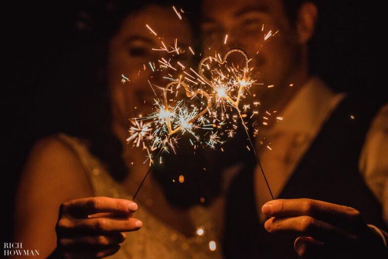 Heart Shaped Wedding Sparklers