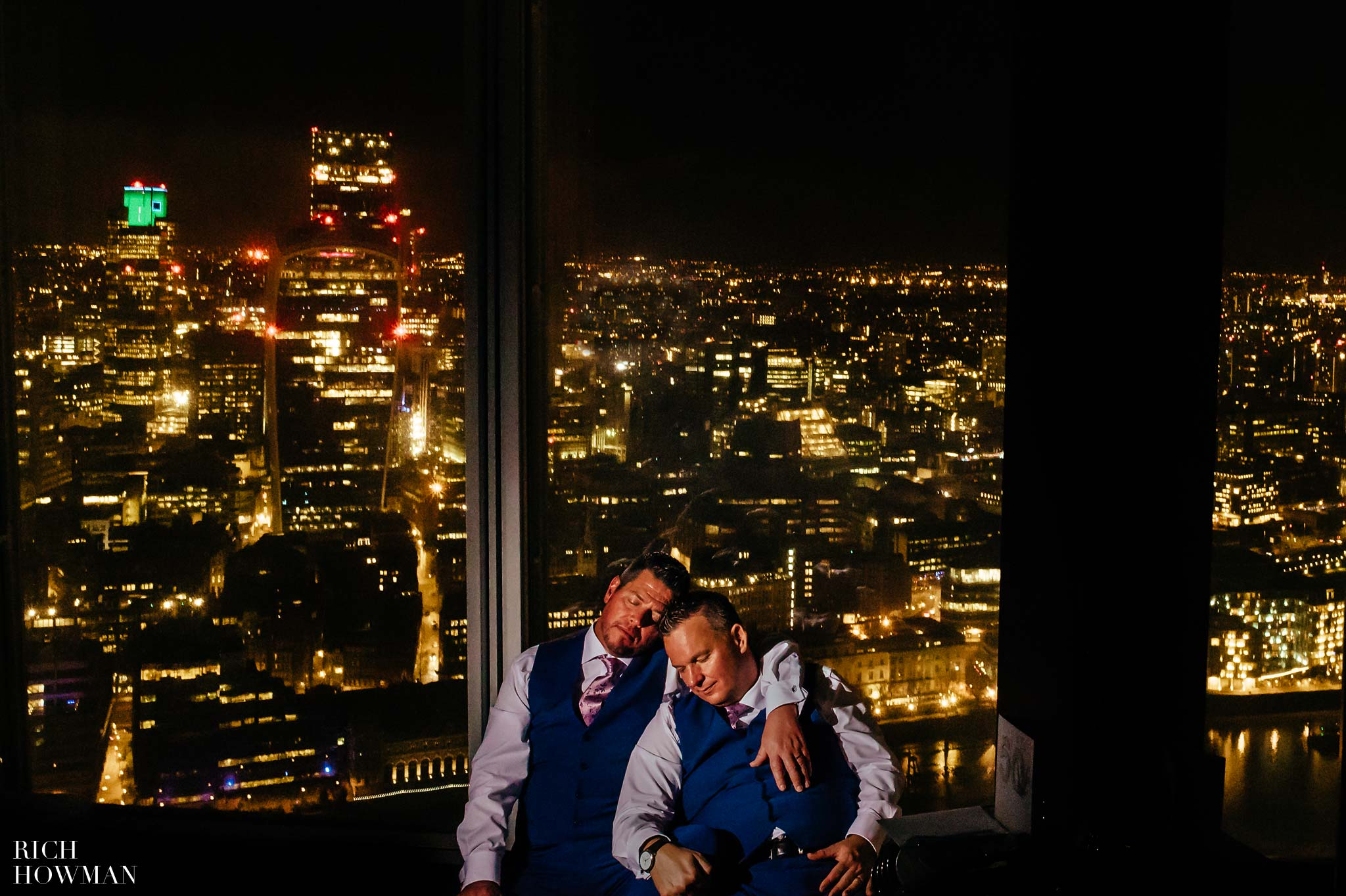 LGBTQ Wedding Photographer at the Shard London