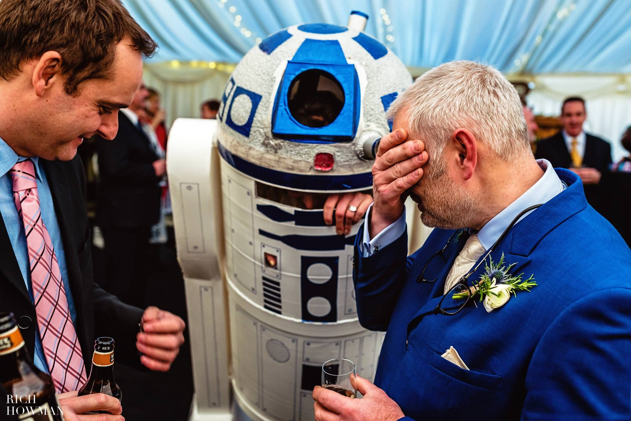 Wedding in Somerset at Christmas with a start wars theme