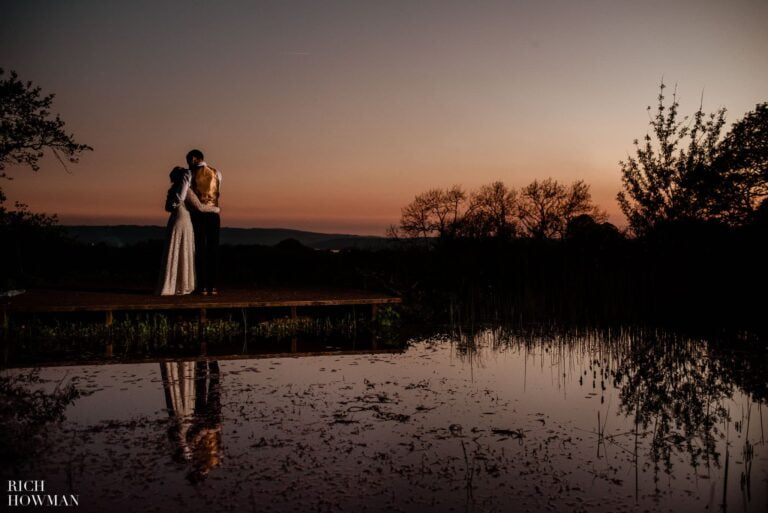 Outdoor Wedding Ceremony in the Somerset Countryside at Folly Farm