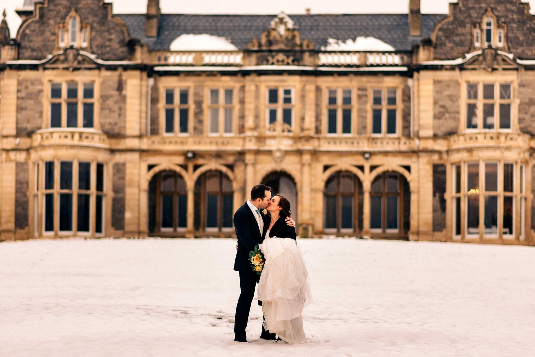 Winter Wedding in the Snow at Clevedon Hall