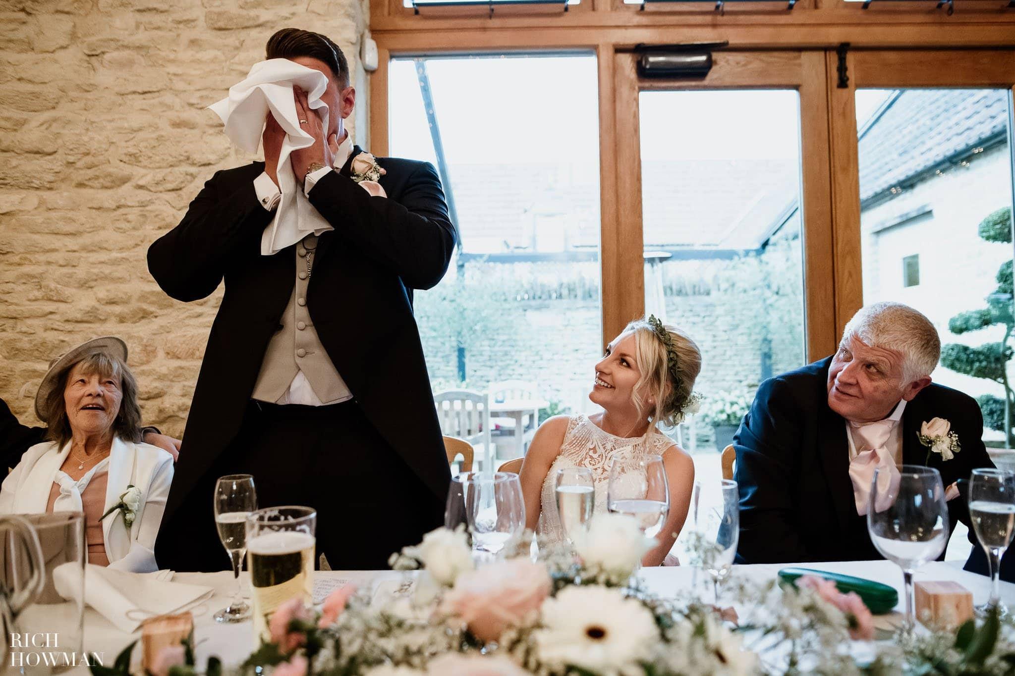 Kingscote Barn Wedding Photographer in Gloucestershire 583
