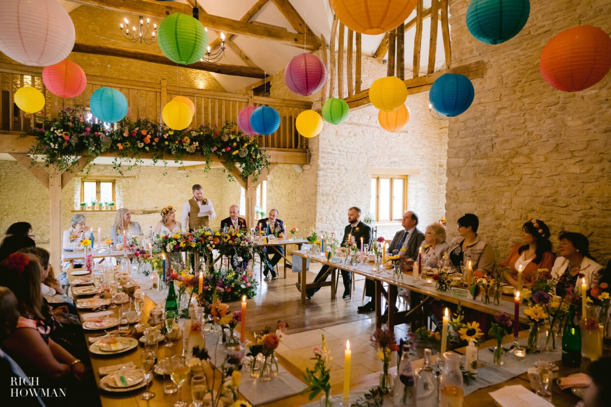kingscote barn wedding photos by rich howman